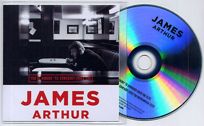 JAMES ARTHUR You're Nobody Til Somebody Loves You UK 2-trk promo test CD