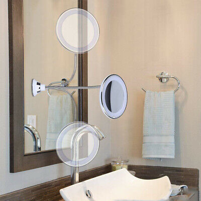 Gooseneck Magnifying Mirror With Light Magnification
