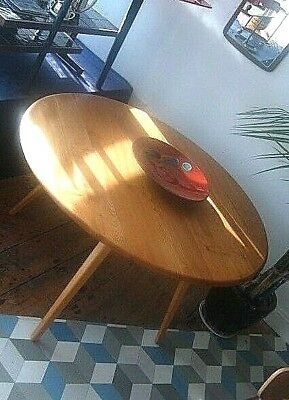 Fabulous Restored Retro Vintage Ercol Oval Drop Leaf Dining Table - Delivery