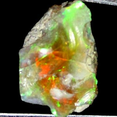 9.85 Cts 100% Natural Play of Multi Fire ETHIOPIAN OPAL ROUGH Gemstone Gemsway
