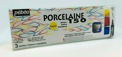 Pebeo Porcelaine 150 Markers - 3 Pack - 0.7mm - BRAND NEW AND SEALED
