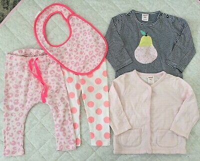 Girls Size 0 Seed Clothing Bundle Top Jacket Pants 6 to 12 Months