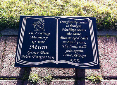 Memorial stone marker grave plaque granite headstone plaque marker personalised