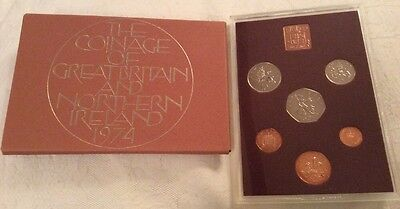 Royal Mint 1974 Proof 6 Coin Set Great Britain & N I.                     (211)