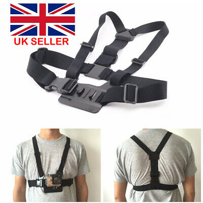 GoPro  Elastic Chest Strap Harness Mount for GoPro HD Hero 2 3 3+4 5 Camera UK