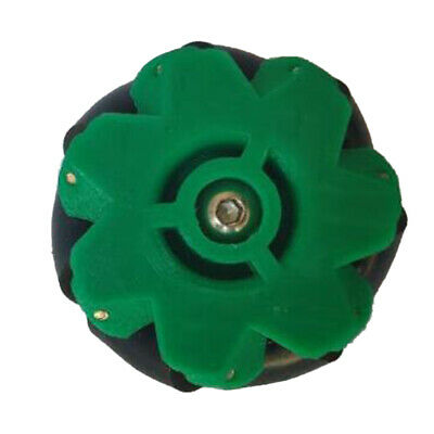 Omni Wheel Mecanum Wheels with Coupling Equipped with 3/4/5/6/7mm Green