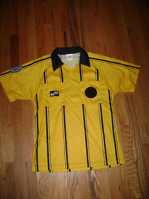 473d926d71f4b1 OFFICIAL SPORTS UNITED STATES SOCCER FEDERATION REFEREE JERSEY YELLOW SHIRT  sz S