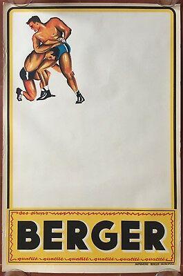 Affiche BERGER BOXE Boxing Bar Bistrot