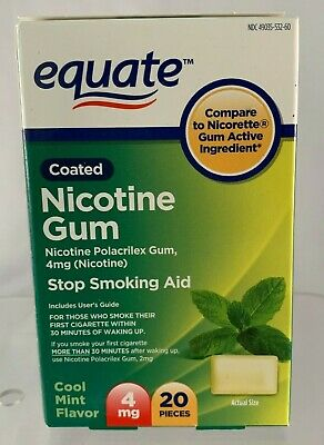 Equate Nicotine Mint Flavor Coated Gum 4mg 20 pieces