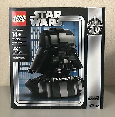 New LEGO Darth Vader Bust Helmet 75227 Star Wars 2019 20 Yrs Target Exclusive!!!