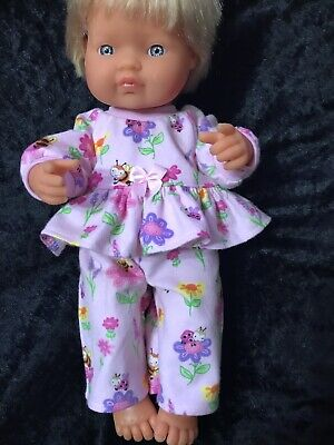 Dolls clothes made to fit 38cm Miniland  Dolls (size Small).  Pyjamas