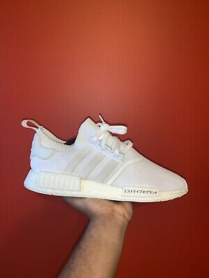 aba49362fa749 ADIDAS NMD R1 Triple White Originals Nomad Runner Shoes Size 10 ...