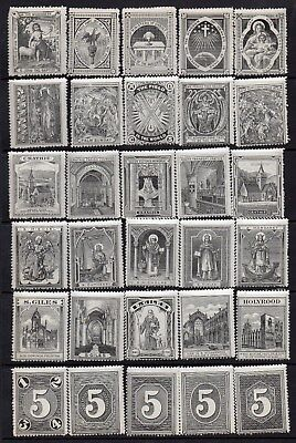 1890s/1900s Church Of Scotland/Sunday School Reward Labels UM/MNH Set(30) Grey