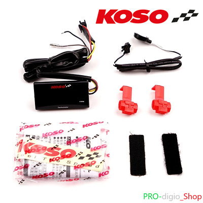 Contagiri KOSO SUPER SLIM LCD Digitale RPM Universale Moto Scooter Motard ATV