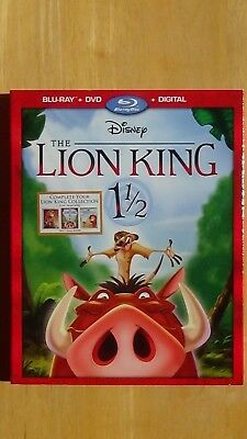 Disney THE LION KING 1 1/2 Blu-Ray + DVD + Digital New Sealed with Sleeve