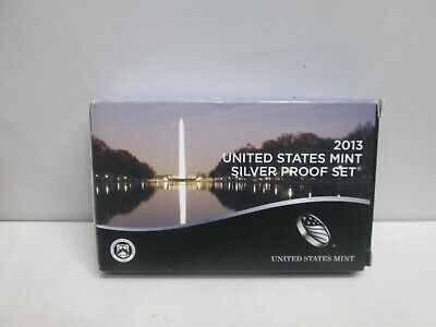 2013 Us Mint Silver Proof Set With Box & Coa
