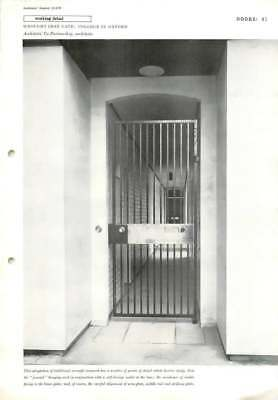 1959 Wrought Iron Gate: College In Oxford Architects' Co-Partnership,