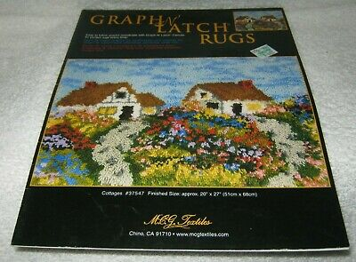Graph n' Latch - Latch Hook Rug Pattern - Cottages - # 37547 -