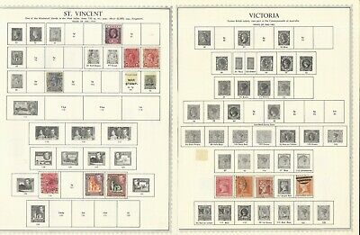 British Colonies: Lot of 90 stamps in sheet of album used. BY25