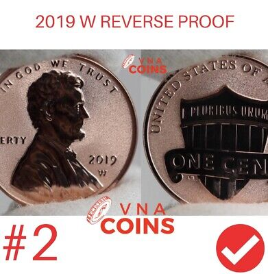 2019 W DEEP CAMEO Reverse Proof Lincoln Cent **PRESALE** Second FROM US MINT.