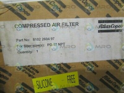 Atlas Copco 8102260497 Compressed Air Filter * New In Box *