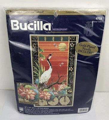 Bucilla Needle Point 4756 Nancy Rossi Oriental Crane