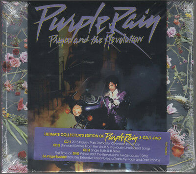 PRINCE Purple Rain 3-CDs & DVD Deluxe Expanded Edition NEU + OVP