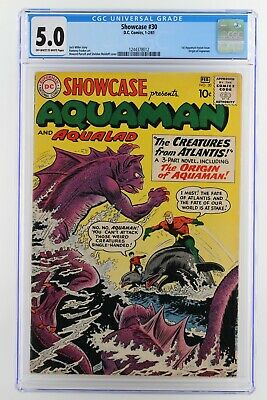 Showcase #30 - CGC 5.0 VG/FN - DC 1961 - 1st Aquaman tryout (ORIGIN) - JLA!!!