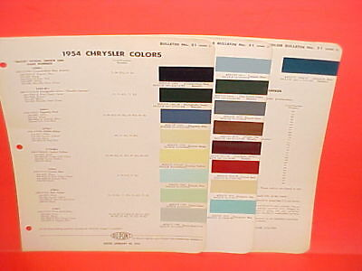 1954 Chrysler Imperial New Yorker Windsor Convertible Club Coupe Paint Chips 54