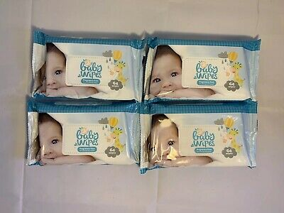 Baby Wipes FRAGRANCE FREE: Dermatologically Tested- 3x64