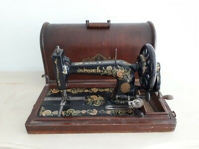 Rare 1906 model Singer 48k Ottoman Hand Crank sewing machine S540327