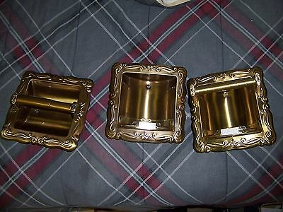 New Antique Brass Bathroom Accessories Set Soap Dish Towel Bar Toilet Paper NICE