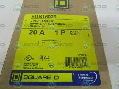Square D Edb16020 Circuit Breaker 20A *New In Box*