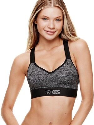 8f7aac6be947d VICTORIA'S SECRET PINK Marble Ultimate Strappy Shine Sports Bra S ...