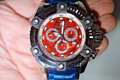Invicta Reserve Grand Octane Arsenal Red Abalone High Polished 58mm Watch New