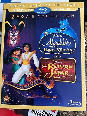 Disney Aladdin King of Thieves / Return of Jafar (Dvd & Bluray) No Digital!