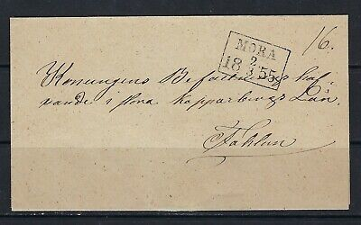 B&D: 1855 Sweden stampless cover from Mora to Stockholm