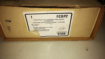 T&B Fcdp2 New In Box Fcc Flat Conductor Cabe Pedestal W/ 2 Duplex Outlers #A73