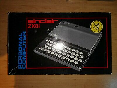 Sinclair ZX81 & 5 game cassettes, with 16k Panda memory expansion, used