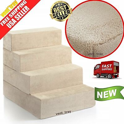 Pet Ramp/Foam Easy Up Stair Portable Ladder X-Large 4Step Pet For Bed Steps Dog
