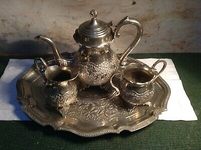 Vintage/Antique German Silver Plated Tray and Tea Set. C4/153/B1