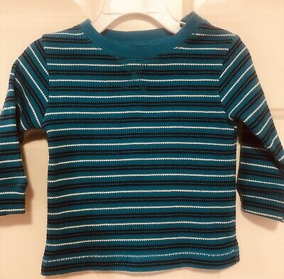 EUC Baby Boys Children's Place Soft Blue Striped Pullover Shirt Top 9-12 Months