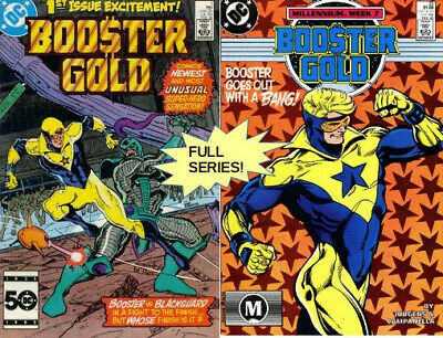 Booster Gold COMPLETE FIRST SERIES (1986-1988, DC)! INTRO BOOSTER GOLD!!!