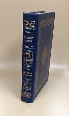 Beyond Infinity Leather Easton Press 2004 Signed by author Gregory Benford SF