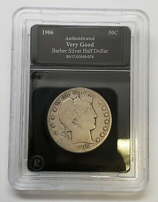 1906-O Barber Half Dollar VG Bradford Exchange Mint Holder