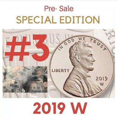 2019 W # 3 FROM THE US MINT Lincoln Cent / UNCIRCULATED & ORIG ENVELOPE PRE-SALE