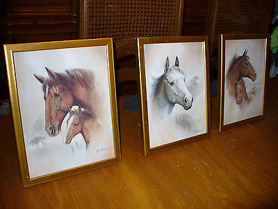 3 Old West Horses #1 Black,1Brown /& 1 White Ruane Manning Wall Art Print Picture