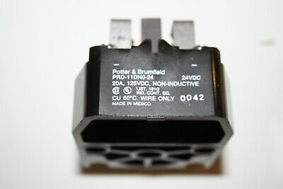 NOS Potter & Brumfield PRD11DHO-24 Power Relay, Non-Latching, 24VDC 20A, DPDT