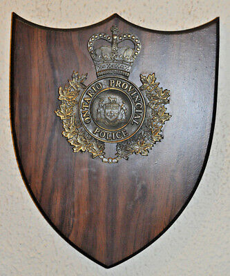Canadian Ontario Provincial Police plaque shield Constabulary