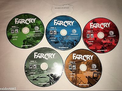 Far Cry by Ubisoft PC CD-ROM game 5 Discs  FARCRY